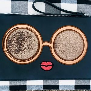 Carlos Santana Clutch Eyes Have It Graphic Glitter